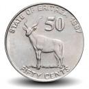 ERYTHREE - PIECE de 50 Cents - Gazelle - 1997