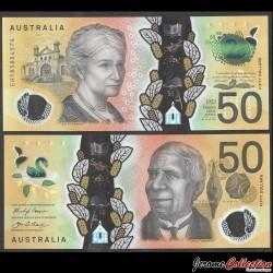 AUSTRALIE - Billet de 50 DOLLARS - David Unaipon - Polymer - 2018 P64a