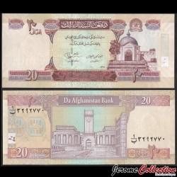 AFGHANISTAN - Billet de 20 Afghanis - 2012 P68e