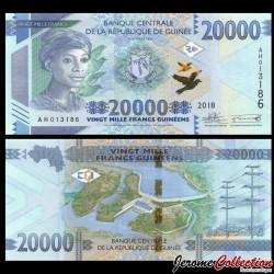 GUINEE - Billet de 20000 Francs - Barrage hydroélectrique de Kaleta - 2018 P50b
