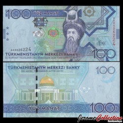 TURKMENISTAN - Billet de 100 Manat - Oghuz Khagan - 2009 P27a