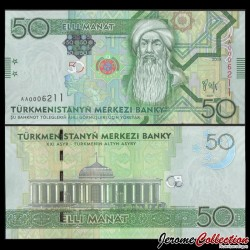 TURKMENISTAN - Billet de 50 Manat - Korkut Ata - 2009 P26a