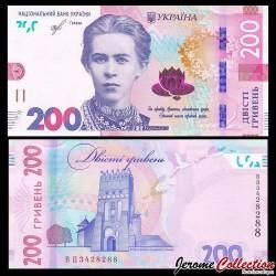 UKRAINE - Billet de 200 Hriven - Château de Lubart - 2019 P131a