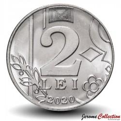 MOLDAVIE - PIECE de 2 Lei - Soleil - 2020 Km#new