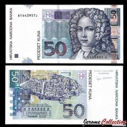CROATIE - BILLET de 50 Kuna - 2002