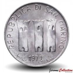 SAINT-MARIN - PIECE de 500 Lires (Argent) - Maman et son bébé - 1972