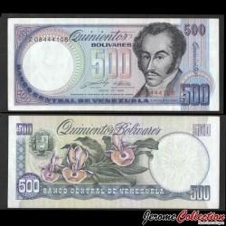 VENEZUELA - Billet de 500 Bolivares - Orchidées - 31.05.1990 P67d
