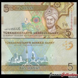 TURKMENISTAN - Billet de 5 Manat - 2009 P23a