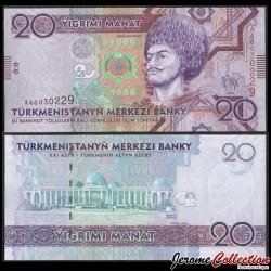 TURKMENISTAN - Billet de 20 Manat - 2009 P25a