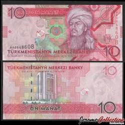 TURKMENISTAN - Billet de 10 Manat - 2009 P24a