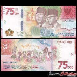INDONESIE - Billet de 75000 Rupiah - 75e anniversaire de l'indépendance - 2020 P161a