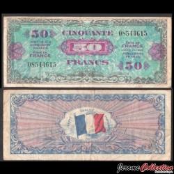 FRANCE - BILLET de 50 Francs - DRAPEAU - 1944 P117a - VF19(1)