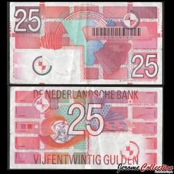 PAYS BAS - Billet de 25Gulden - 05.04.1989 P100a