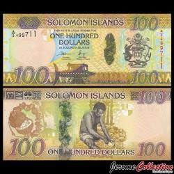 SALOMON (ILES) - Billet de 100 DOLLARS - Récolte de noix de coco - 2015 P36a