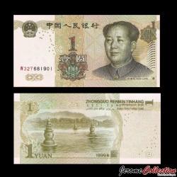 CHINE - BILLET de 1 Yuan - Mao Tse-tung - 1999 P895c