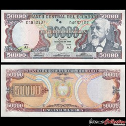EQUATEUR - Billet de 50000 Sucres - Eloy Alfaro - 12.07.1999 P130e