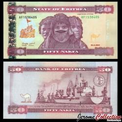 ERYTHREE - Billet de 50 Nakfa - Cargo dans le port de Massaoua - 24.05.2004 P7a