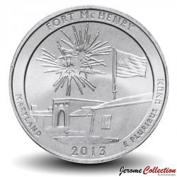 ETATS UNIS / USA - PIECE de 25 Cents - America the Beautiful - Fort McHenry - 2013 - D Km#545