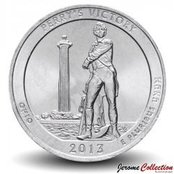 ETATS UNIS / USA - PIECE de 25 Cents - America the Beautiful - Perry's Victory - 2013 - D Km#543