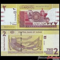 SOUDAN - BILLET de 2 Livres Soudanaise - 2011 P71a
