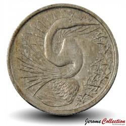 SINGAPOUR - PIECE de 5 Cents - Oiseau-serpent - 1967 Km#2