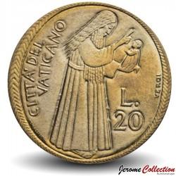 VATICAN - PIECE de 20 Lires - La Confiance de l'Homme en Dieu - 1978 Km#128