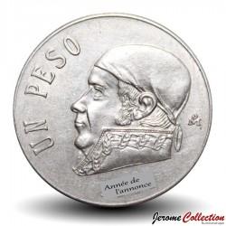 MEXIQUE - PIECE de 1 Peso - José María Morelos y Pavón - 1972 Km#460