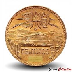 MEXIQUE - PIECE de 20 Centavos - Pyramide de teotihuacan - 1973 Km#441