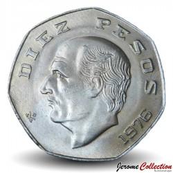 MEXIQUE - PIECE de 10 pesos - Miguel Hidalgo - 1976 Km#477