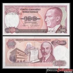 TURQUIE - Billet de 100 Lire turque - Mehmed Akif Ersoy - 1983 P194a(1)
