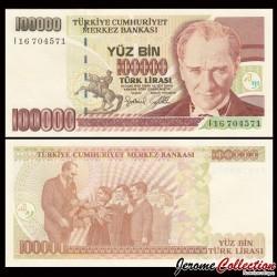 TURQUIE - Billet de 100000 Lire turque - 2001 P206(1)