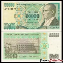 TURQUIE - Billet de 50000 Lire turque - 1995 P204a