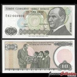 TURQUIE - Billet de 10 Lire turque (1984-2002) P193b
