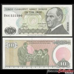 TURQUIE - Billet de 10 Livre turque - 1987 P192a.2