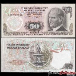 TURQUIE - Billet de 50 Livre turque - Fontaine en marbre - 1987 P188a2