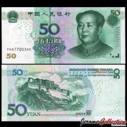 CHINE - BILLET de 50 Yuan - 2005