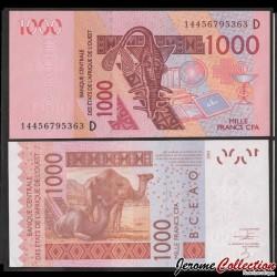 MALI - Billet de 1000 Francs - Chameaux - 2014 P415Dn