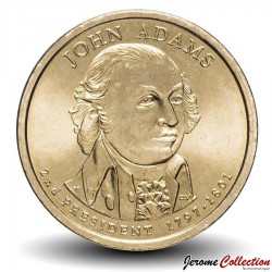 ETATS UNIS / USA - PIECE de 1 Dollar - Séries Présidents: John Adams - 2007 - D Km#402