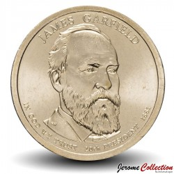 ETATS UNIS / USA - PIECE de 1 Dollar (Série Président) - James Abram Garfield - 2011 - D Km#502