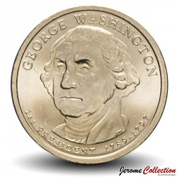 ETATS UNIS / USA - PIECE de 1 Dollar (Série Président) - George Washington - 2007 - D Km#401