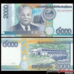 LAOS - Billet de 2000 Kip - Kaysone Phomvihane - 2011 P41a