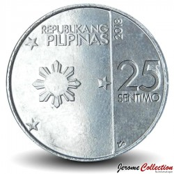 PHILIPPINES - PIECE de 25 sentimo - Dillenia philippinensis - 2018