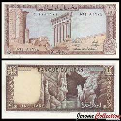 LIBAN - Billet de 1 Livre - Colonnes du temple de Jupiter - 1980 P61c