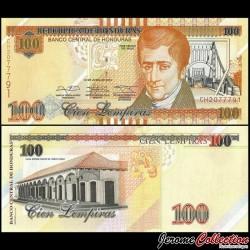 HONDURAS - Billet de 100 Lempiras - José Cecilio del Valle - 2014 P102b