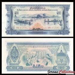 LAOS - Billet de 100 Kip - Pécheurs - 1968 / 1975 P23a