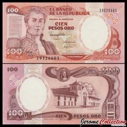 COLOMBIE - Billet de 100 Pesos Oro - 1990 P426e.1