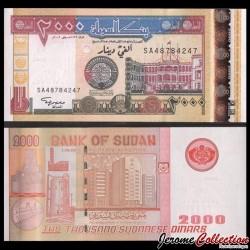 SOUDAN - BILLET de 2000 Dinars Soudanais - 2002 P62a