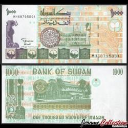 SOUDAN - BILLET de 1000 Dinars Soudanais - 1996 P59a