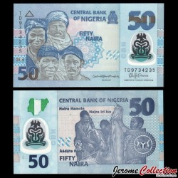 NIGERIA - Billet de 50 Naira - Polymer - 2016 P40f