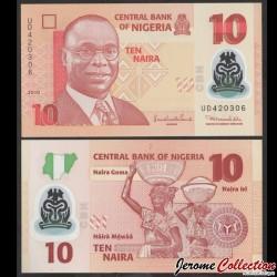 NIGERIA - Billet de 10 Naira - Polymer - 2010 P39b2